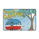 Wearibear - Alfombra para Camping (Antideslizante, no se decolora, tamaño Grande, Pelo Suave,...