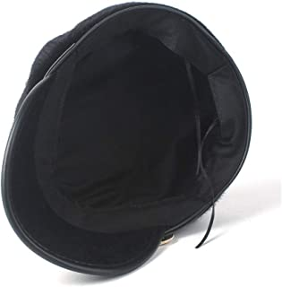 SHENTIANWEI Women Warm Fur Beret Hat Wild Retro Visor Hat Elegant Lady Octagonal Hat Newsboy Cap Baseball Casual Cloche Hat Size 56-58CM