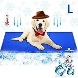 Wimypet Alfombra Refrescante para Perro, Alfombrilla para Animales, Manta de Dormir Fresco para Perros/Gatos, Manta Refrescante Perro No Tóxico Mascotas y Gatos en Verano - Azul (50 * 90cm)