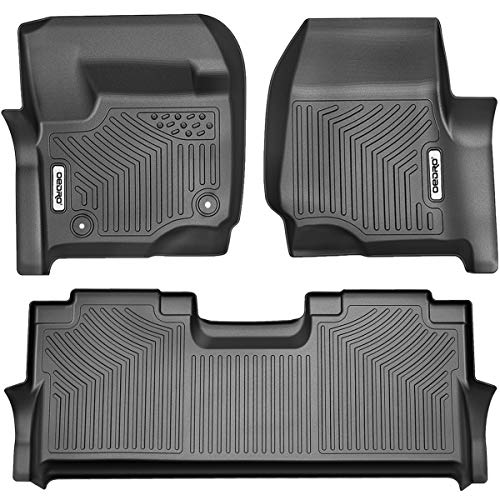OEDRO Floor Mats Compatible for 2017-2022 Ford F-250 / F-350 Super Duty Crew...