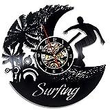 Nfjrrm Cool Surf Beach Reloj de Pared decoración del hogar de...