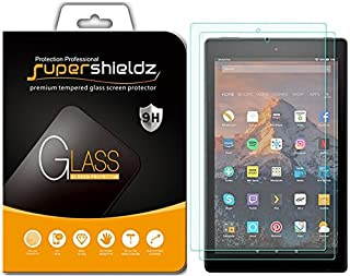 (2 Pack) Supershieldz for All New Fire HD 10 Tablet 10.1 inch (9th and 7th Generation, 2019 and 2017 Release) Tempered Glass Screen Protector, Anti Scratch, Bubble Free