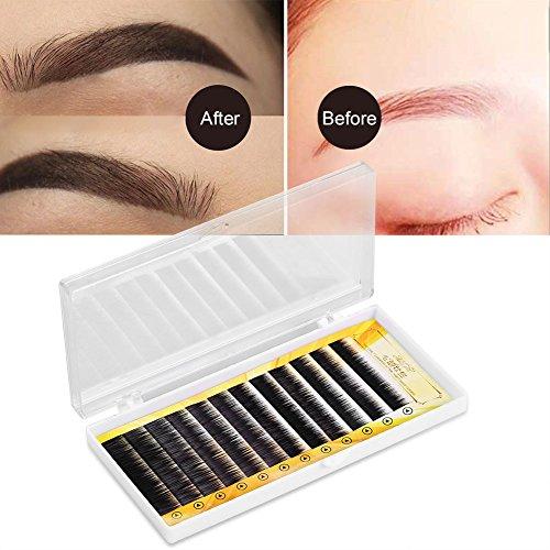 Mischschwarz-falsche Augenbrauen-Erweiterungs-gefälschter Augenbrauen-Vergrößerer-einzelne Augenbrauen 5-8mm