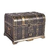 MUY scrigno del tesoro decorativo scrigno dei monili scatola di plastica giocattolo tesoro scatole decorazione festa grande per le donne