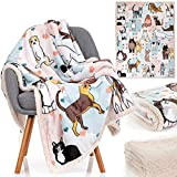 Cat Blanket - 28 Cute Cat Companions on a Sumptuously Soft Lightweight 50x60 Inch Cat Lover Throw Blanket - The Most Beloved Cat Gifts for Cat Lovers Everywhere