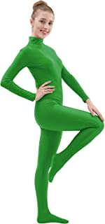 Womens Lycra Spandex Zentai Suits One Piece Footed Unitard