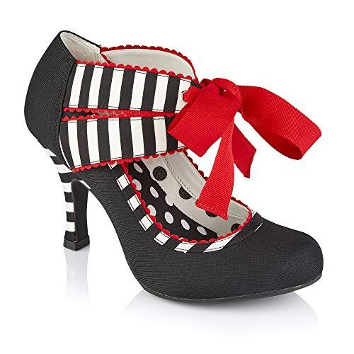 Ruby Shoo Aisha Black Stripe 9337-6