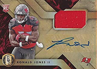 AUTOGRAPHED Ronald Jones II 2018 Panini Gold Standard Football ROOKIE JERSEY RELIC SIGNATURE (Tampa Bay Bucs) Signed Insert Collectible NFL Football Trading Card #77/99