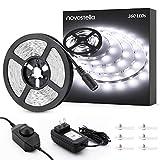 Novostella 20ft/6m Dimmable LED Light Strip Kit, 360 Units SMD 2835 LEDs, 12V LED Ribbon, Flexible...