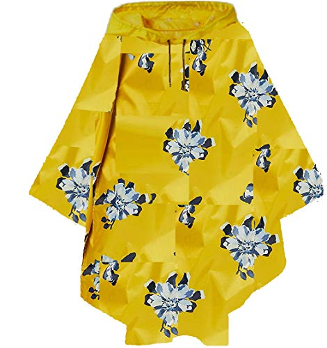 Joules Women's Right as Rain USA Poncho (Gold Floral)