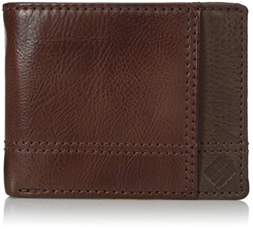 Columbia Men's Leather Traveler Wallet, Foxfield Brown, One Size