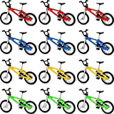 12 Pieces Finger Bikes Mini Extreme Sports Finger Bicycle Miniature Metal for Creative Game Party Favors Gifts