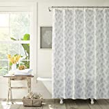 Tommy Bahama Tossed Pineapple Shower Curtain, 72x72, Pastel Grey