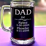 N\A Taza para papás Establecida con Nombres de niños, Fechas de Nacimiento, Abuelos, Taza de cumpleaños, Regalo para el día del Padre, Dos tamaños de Taza