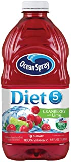 Ocean Spray Diet Juice Drink, Cranberry with Lime, 64 Ounce Bottle (Pack of 8)