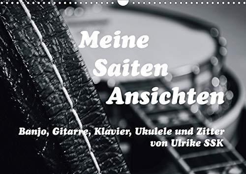 Meine Saiten Ansichten - Banjo, Gitarre, Klavier, Ukulele und Zitter von Ulrike SSK (Wandkalender 2021 DIN A3 quer)