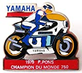 YAMAHA -1979 P. Pons - Champion du Monde 750 - Pin 35 x 32 mm