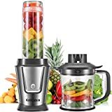 KotiCidsin Blender, Blende Smoothie, Mixeur Multifonctionnel 2 en 1 pour Smoothies, Milk-Shake, Jus, Tasse Portable de 570ml...