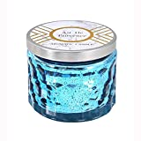 Reabeam Smokeless Incense Scented Candles in Glass, Essential Oils Scent Highly Scented & Long Lasting Aromatherapy Frosted Glass Jar Candles for Home