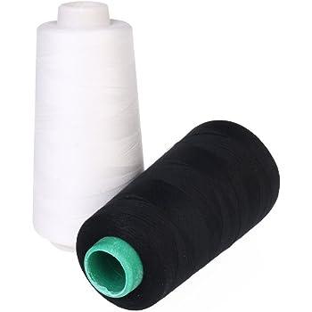 chengyida 2pcs (blanco y negro) práctica 3000 m bobinas de máquina ...