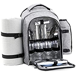 Picnic backpack with picnic blanket, it doesn't always have to be a picnic basket