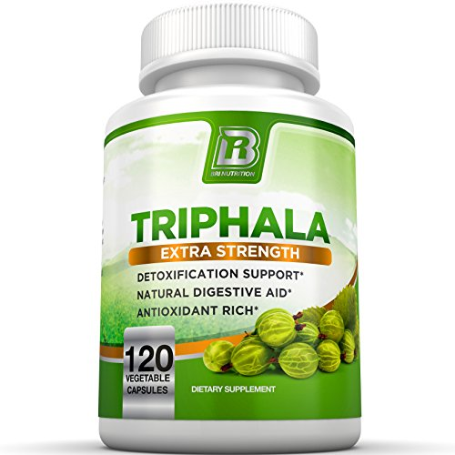 BRI Nutrition Triphala - 1000mg Veggie Himalaya Triphala Pure Extract Plus - 60 Day Supply - 120ct Vegetable Cellulose Capsules