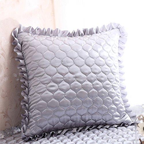 Dossier De Chevet Coussin de canapé gris argenté convenable pour chambre/salon/bureau/voiture Mordern style chaud décoration intérieure (edition : Cushion, taille : 55 * 55)