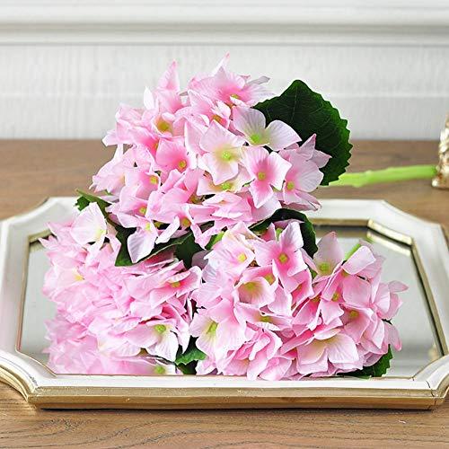 WYYAF Kunstbloemen, hortensia, kunstbloemen, totaal zijdebloem, Franse romantiek, verse eettafel, woonkamer, namaakbloemen-A 35 x 13 cm (14 x 5 inch)