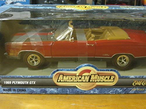 1969 Plymouth GTX ConGrünible in rot & schwarz Diecast 1 18 Scale American Muscle Collectibles by Ertl 1997 by diecast 164 scale