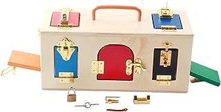 MXECO Montessori Material didáctico Montessori Niños Educación temprana Juguetes educativos Bloqueo Intelectual Ciencia Caja de Bloqueo Juguete