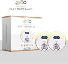 Ultrasonic Electronic Pest Repeller. UPGRADED 2019 Electronic Pest Repellent, plug in to avoid ALL Insects, Mosquitoes, Mice, Spiders, Ants, Rats - 100% safe and Eco Friendly. LED (on/off) nightlight.