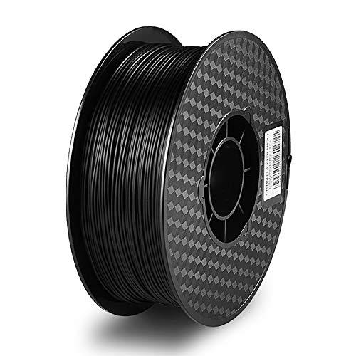 PLA 3D Printer Filament 1.75mm,Rekey PLA Filament Fit Most FDM Printer, 1kg Spool (2.2lbs), Dimensional Accuracy 1.75mm+/- 0.03mm (Black)