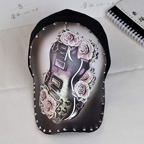 sdssup Blühendes ursprüngliches Hutschwarzes des Gitarrentinten-Spaßes der Weidenhutillustration...