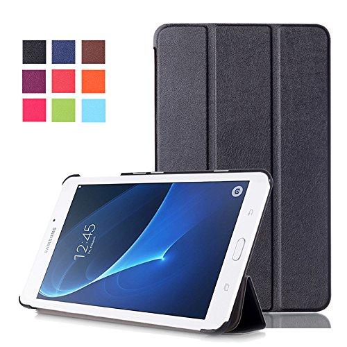 Samsung Tab A6 7inch Case - PU Leather Tri-Fold Stand Cover Case for for Samsung Galaxy Tab A 7.0 Inch (2016) SM-T280 / T285 Tablet,Black