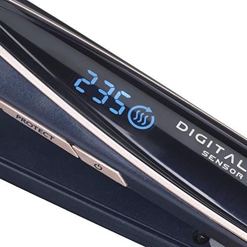 BaByliss ST500E - Plancha de pelo inteligente profesional con sensor digital para proteger el cabello, 12 ajustes de temperatura de 180° C a 235° C, recubrimiento de cerámica, función iónica