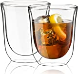JoyJolt Levitea Double Walled Glasses Thermo Tumber, Barware, Drinkware, Glassware (Set of 2) -8.4-Ounces