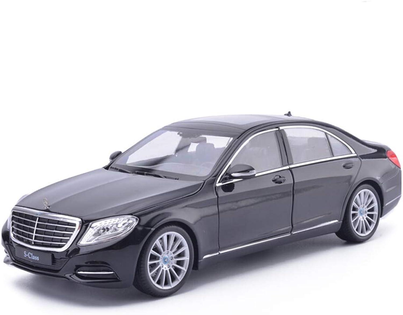 venta JIANPING Modelo de Coche Coche 1 24 Mercedes Benz S500 S500 S500 Simulación de aleación de fundición de Juguetes Adornos Deportivos Colección de Coches Joyería 19x7x5CM Auto Modelo (Color   negro)  Tu satisfacción es nuestro objetivo