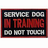 Perro de servicio en el entrenamiento No toque chalecos/arneses Emblema Broche Bordado de Gancho y Parche de Gancho y bucle de cierre