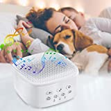 Macchina del Rumore Bianco, White Noise Machine Generatore Per Sonno Articoli per la Nanna 21 Suoni Naturali per Bebè Adulti Funzione Timer Memoria, Portatile Casa Ufficio Viaggi Alimentato USB