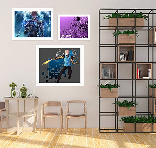 AJ WALLPAPER 3D One Punch Man 2131 - Adhesivo decorativo para pared, diseño de anime, Vinilo resistente (autoadhesivo)., X Large