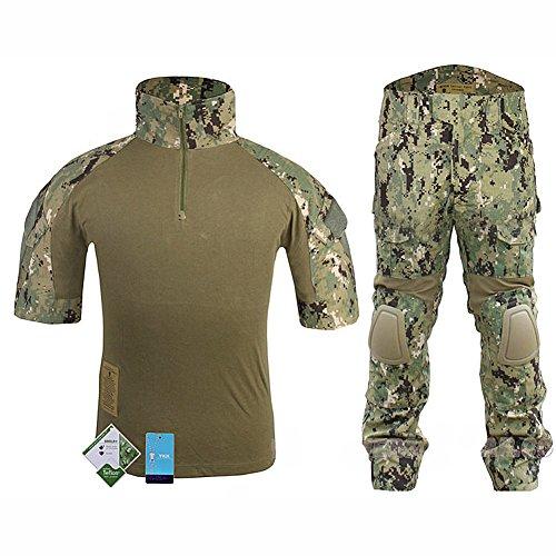 WorldShopping4U Tactique Militaire personnalisé Combat Shorts Armée Uniforme Shirt & Pants Suit Set (AOR2, M)