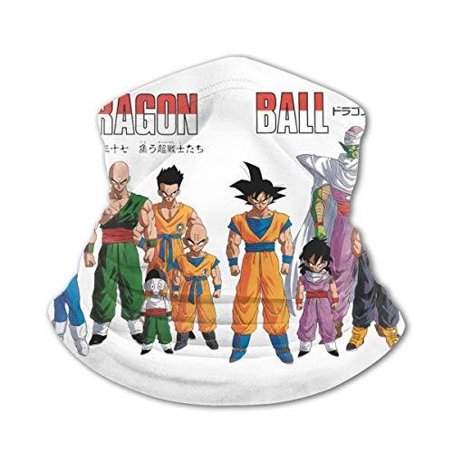 Dragon Ball Z Braga para el cuello, pasamontañas, bandana para la cabeza, bufanda de refrigeración, variedad de toallas faciales