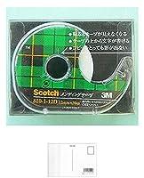 スリーエムジャパン メンディングディスペンサー小巻12mm×30m5巻 + 画材屋ドットコム ポストカードA