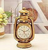YZ-YUAN Reloj de repisa, Reloj de linternas de Queroseno Retro Creativo, Adornos creativos para el hogar, Decorar el día de Navidad Familiar