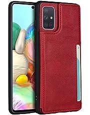 Portemonnee telefoonhoesje voor Samsung Galaxy A71 (rood)
