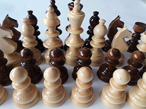 Gigant Holz Schachfiguren neu handgemachtes handpindelt spezielles braune Farbe des Entwurfes groß, König ist 4,52 Zoll oder 11.5 cm Geschenk spielzeug pädagogisches Brettspiel