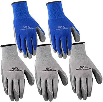5-Pack Wells Lamont Nitrile Work Gloves