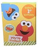 Sesame Street Babys 1st Birthday Party Invitations Elmo 10 Cards