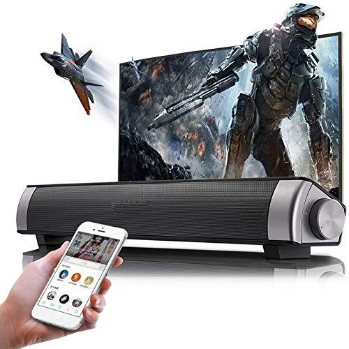 Barra De Sonido De TV Barra De Sonido Inalámbrica con Altavoz Bluetooth con Control Remoto De Subwoofer Incorporado, Compatible con Tarjeta Óptica/AUX/TF/USB