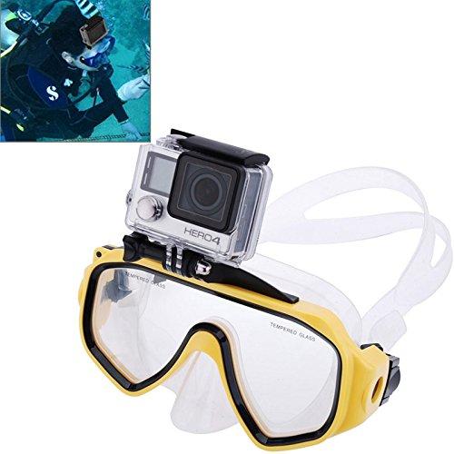 Equipo de buceo for deportes acuáticos, máscara de buceo, gafas de natación con montura for GoPro NEW HERO / HERO6 / 5/5 Session / 4 Session / 4/3 + / 3/2/1, Xiaoyi y otras cámaras de acción (azul) Ca